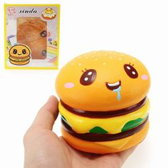 Xinda Squishy Hamburger 9cm Burger Collection Slow Rising With Packaging Gift Decor Soft Toy