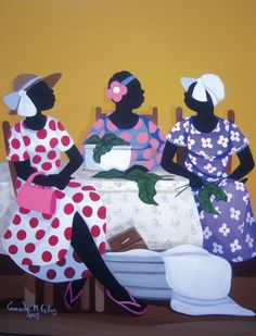 Gossip Over Greens by Cassandra Gillens / Yes the church ladies. Cook and talk :)