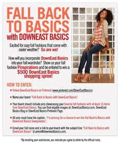 Pinterest Fall Fashion Contest: Enter to Win a $500 DownEast Basics Gift Card! | DownEast Basics Blog