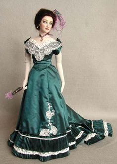 1890's fashion | The Evening Costume is styled in a late 1890's fashion.It is made of ...