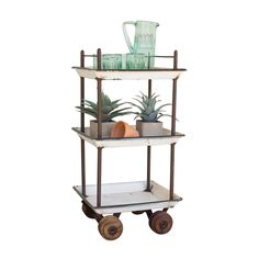 So your garden needs some tending to. And you need a big pitcher of water to keep hydrated. Load your supplies on this chic bar cart to get your work done. And when you're finished? Dust it off and pil...  Find the Gardener's Delight Bar Cart, as seen in the The Floating Farmhouse Collection at http://dotandbo.com/collections/the-floating-farmhouse?utm_source=pinterest&utm_medium=organic&db_sku=91091