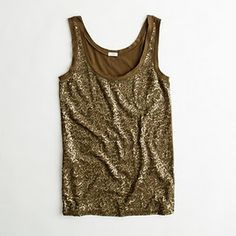 Have/Suggest. Scattered Sequin Tank.