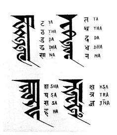 New Nepali Fonts: कुटाक्षर Kutakshar Monogram Script - Nepal Bhasa Newa Lipi - Ranjana