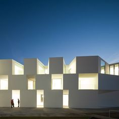 25 Contemporary Building Designs That Are Making A Splash In The Architecture World-Alcácer do Sal Residences by Aires Mateus (Alcacer do Sal, Portugal) Healthcare Architecture, Facade Architecture, Amazing Architecture, Landscape Architecture, Contemporary Building, Contemporary Architecture, Minimal Architecture, Sustainable Architecture, Alcacer Do Sal