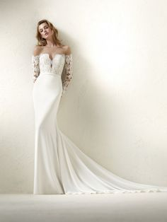 Pronovias - DRACMA | Now avalible at Schaffer's Bridal! #wedding #dress #pronovias