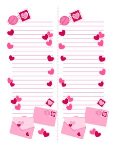 For your valentine list, to-do list, shopping list, or whatever you please. A gift for you, enjoy! To Do Lists Printable, Free Printable Tags, Printable Planner Stickers, Printable Paper, Printables, Valentine List, Love Valentines, Valentine Crafts, Fuchsia