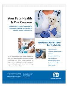 Veterinarians Poster Template  Veterinarians poster template will be a good choice for presentations on veterinarians. Find poster templates - download, edit & print!  http://dlayouts.com/13-All-Items/665-Veterinarians-Poster-Template/flypage.tpl.html