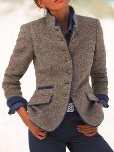 Print Langarm Mantel mit Reißverschluss – Cindyrosy