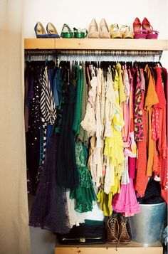 Small Closet Tip: Color-coding your wardrobe makes navigating a packed closet so much easier