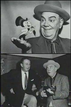 Walt with Cliff Edwards (Jiminy Cricket)
