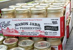 Mason Jar's -. Our trusted Ball® and Kerr® Brands of Fresh Preserving Canning Lids have been crafted for quality for generations.  Our manufacturing facility in Muncie, Indiana produces each canning lid with pride.And our canning jars and lids have been made here in the U.S. for more than 125 years.