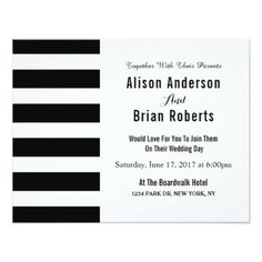 #monogrammed - #Simple Black and white Monogram Wedding Invitation