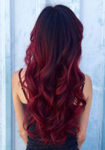 Red Balayage Hairstyle