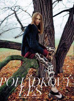 "Kinga Korda - editorial ""Pohadkovy les"" for Marie Claire Czech"