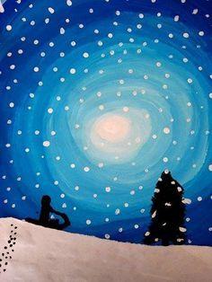 Winterwunderland bei Nacht