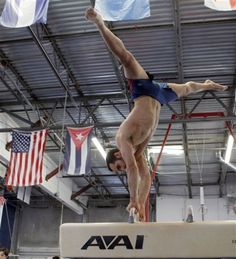 Cuban American on the Men's Olympic Gymnastics team Danell Levya.  Another gorgeous Cuban man (it is easy to lose count).
