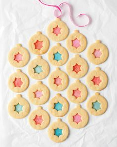 Stained-Glass Sugar Cookies - Martha Stewart Recipes. I'm using this idea for putting windows in my gingerbread house.