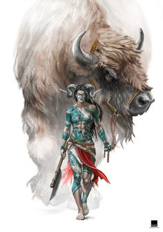 Bárbaro tiefling montando un bisonte gigante. Shut UP and take my money! Fantasy Warrior, Fantasy Rpg, Fantasy Girl, Fantasy Artwork, Sketch Inspiration, Character Inspiration, Character Art, Character Design, Hanuman Wallpaper