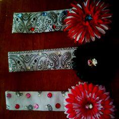 Bandana headbands we make (: