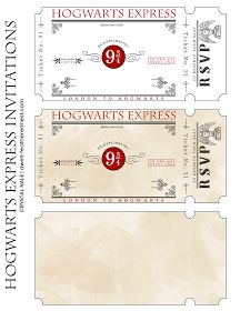 A Well-Feathered Nest: Harry Potter Party: The Invitations