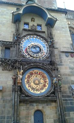 Astronomical clock of the Old Town Hall tower, Prague, Czechia