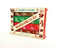 I remember this clay so well!  In 1st grade, we kept our clay in little milk cartons, with our names written on each carton.