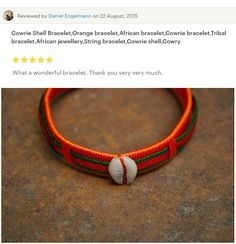 Cowrie Shell BraceletOrange braceletAfrican by akwaabaAfrica African Bracelets, Tribal Bracelets, African Jewelry, Bangles, Beaded Bracelets, Shell Bracelet, Bracelet Making, Beaded Jewelry, Unique Jewelry