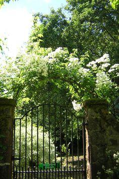 Giardino del Castello di Crathes, Scozia - Entrata alla serra - Foto di Simonetta Sandri