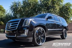 2015 Cadillac Escalade with Forgiato Otto in Chrome wheels Suv Trucks, Suv Cars, Jeep Truck, Cadilac Escalade, Escalade Esv, Truck Wheels, Wheels And Tires, 4x4, Mustang Wheels
