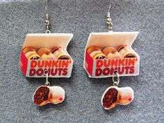 Dunkin' Donuts Kitsch Dangle Polymer Clay Junk Food by craftymule, $18.00