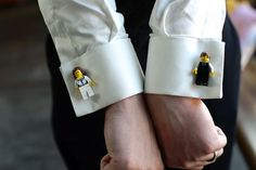 Who doesn't love Lego cufflinks? This is a great way for the groom to add personality to his outfit on his wedding day.