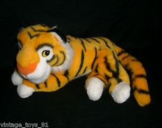 Vintage Walt Disney 1992 Mattel Tiger Stuffed Animal Plush Toy Aladdin Rajah