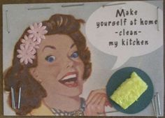 Tina Scraps's Gallery: Clean my kitchen ATC