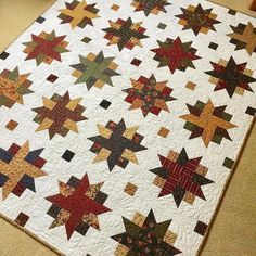 """1,189 Likes, 17 Comments - Missouri Star Quilt Co (@missouriquiltco) on Instagram: """"Wow! I feel like these fabrics and this pattern were meant to go together! Beautiful Ribbon Star…"""""""