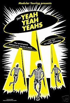 Yeah Yeah Yeahs Concert Poster by Jazz Feldy.
