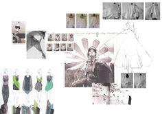 ILLUSTRATION || Fashion Portfolio - fashion sketchbook research, fashion illustrations, draping experiments & design development, Chloe Ward Smith