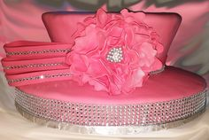 "Breast Cancer Awareness ""Pink"" fondant ""Church Hat"" Fondant church hat"