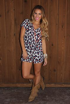 BuddyLove Tiana Spotted Animal Print Romper Spring 2016 Collection