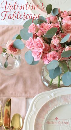 Soft & Romantic Valentine's Day Table for Two Soft and Romantic Valentine's Day Table! Gorgeous pink and white tablescape -->Soft and Romantic Valentine's Day Table! Gorgeous pink and white tablescape --> Valentines Day History, Valentines Day Funny, Valentines Day Shirts, Valentine Day Crafts, Valentine Decorations, Valentine Recipes, Romantic Table Setting, Beautiful Table Settings, Pick Up
