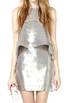 abaday Layered Zippered Glisten Elegant Dress - Fashion Clothing, Latest Street Fashion At Abaday.com