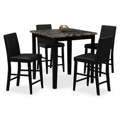 Shadow II Dining Room 5 Pc. Counter-Height Dinette - Value City Furniture $249.95