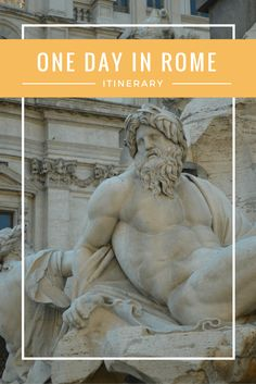 How to see Rome in only one day. Short on travel time, use this itinerary to maximize your time in Rome. asoutherntraveler.com