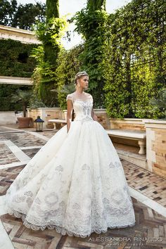 alessandra rinaudo 2017 bridal cap sleeves sweetheart neckline heavily embellished bodice princess ball gown wedding dress lace back chapel train (biancamaria) mv