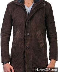 """""""Arzantro"""" Present's Robert Sheriff Longmire Brown Leather Coat for Boys. This Stylish Coat Worn By Robert Taylor in TV Series Longmire The Name of his Character Sheriff Walt Longmire. This coat does look agreeable and polished as well as, it really lives up to what you anticipate from it as far as style and comfort. This Longmire Coat is Made of the Most Astounding Nature of Real Suede calfskin. Available at Our Online Store in Discounted Price.  #halloween #style #fashion #casual #club"""