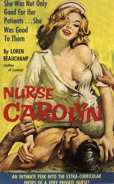 Nurse Carolyn. #vintage #book #cover #pulpart #paperback #illustration #nurse