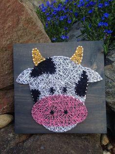 MADE TO ORDER Cow String Art Farm Decor