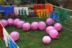 Pig Pen Game Outdoor Party Ideas We could use this game somehow with out Cowboy theme for Reading Night Farm Party Games, Barnyard Party, Pig Party, Birthday Party Games, Birthday Ideas, Redneck Party Games, Cowboy Party Games, Birthday Favors, Farm Animal Birthday