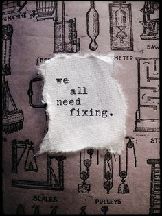 We all need fixing