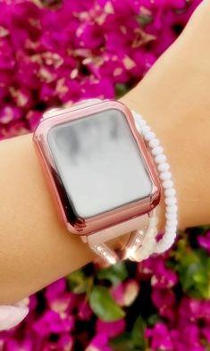Pink Apple Watch Band, Apple Watch Bands Fashion, Apple Watch 3, Apple Watch Series, Apple Watch Wristbands, Presents For Him, Rose Gold Pink, Diamond Bracelets, Luxury Designer