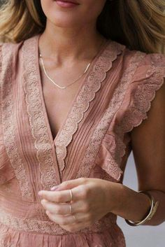 Lace overlay dress lightened cinnamon bleached terra cotta burnt coral flutter sleeves